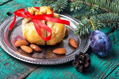 Xmas baked with plum