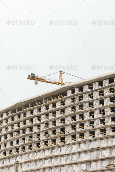 Crane is used in the construction