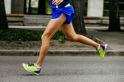 side view foot male athlete runner