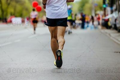 back male runner running
