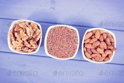 Healthy food containing omega 3 acids, natural minerals and dietary fiber