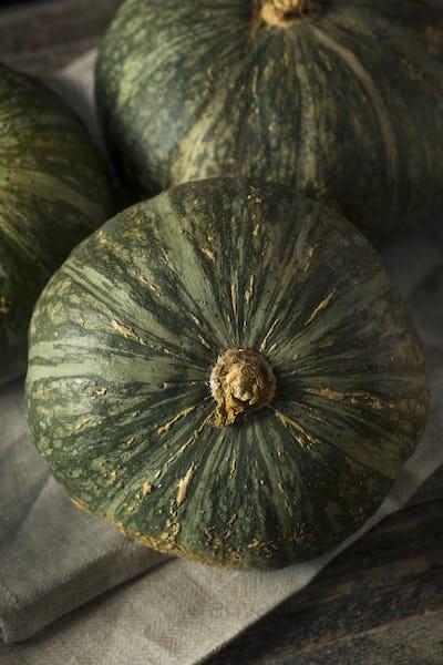 Raw Green Organic Kabocha Squash