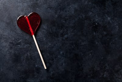 Valentines day greeting card. Sweet candy heart