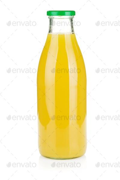 Glass bottle of pineapple juice