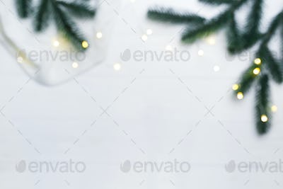 Christmas blurred composition.