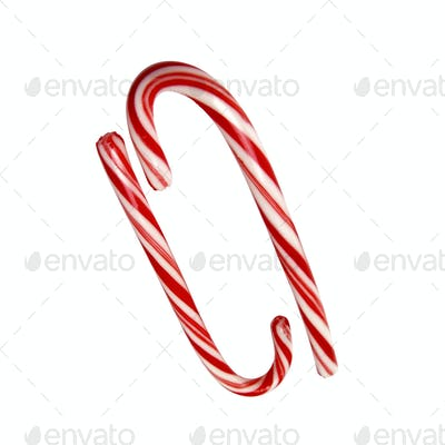 big candys cane isolated with path