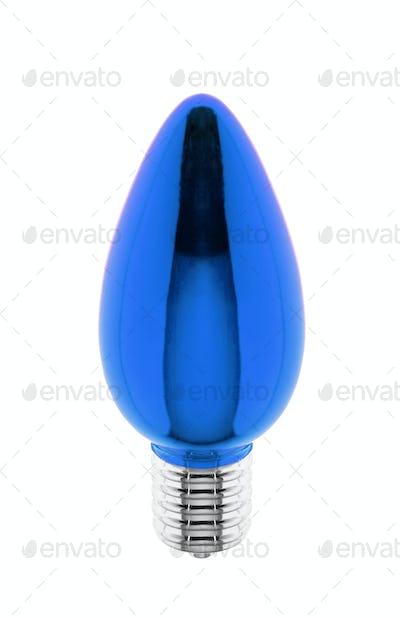 blue lightbulb christmas