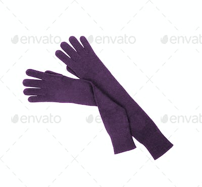 woman gloves isolated