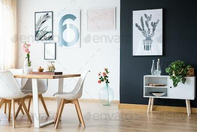 Modern house bright interior