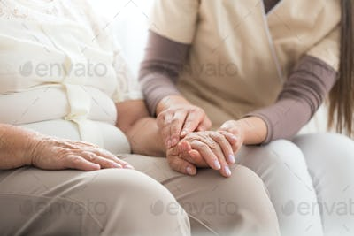 Elderly person with parkinson