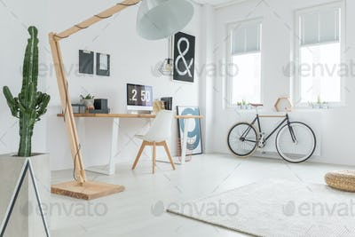 White spacious studio