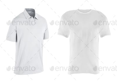 close up of a t shirts on white background