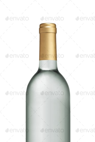 Glass Transparent wine bottle isolated