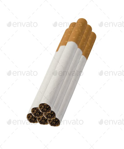 Close-up of Tobacco Cigarettes isolated
