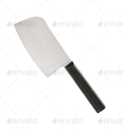 Meat cleaver knife isolated on white background