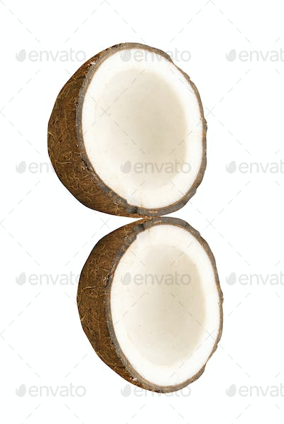 Coconut with half isolated