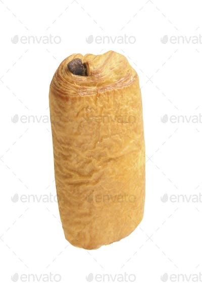 Sweet bread bun isolated on white background
