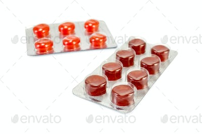 Lozenges cough in packages