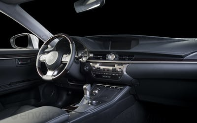 Car interior dashboard