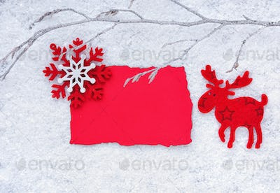 Christmas background with space for your text. Greeting card wit