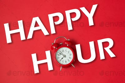 Happy hour with classic clock