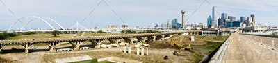 Trinity River Bridges Contruction Dallas Texas Transportation Road