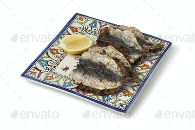 Moroccan dish with stuffed and baked sardines