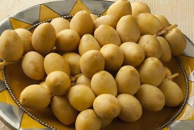Bunch of fresh yellow dates