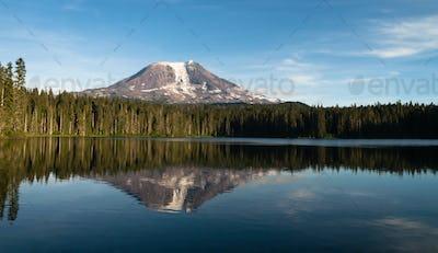 Mount Adams Takhlakh Lake Smooth Reflection Washington Cascade Mountains