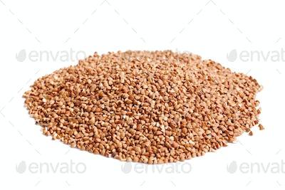 buckwheat on white background