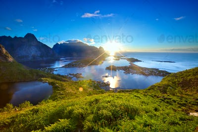 Lofoten Islands sunrise