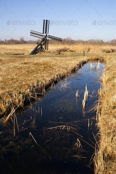 Small windmill in the Weerribben-Wieden