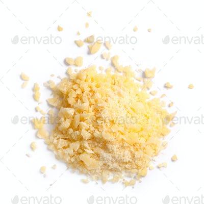Grated parmesan grana cheese, top, paths