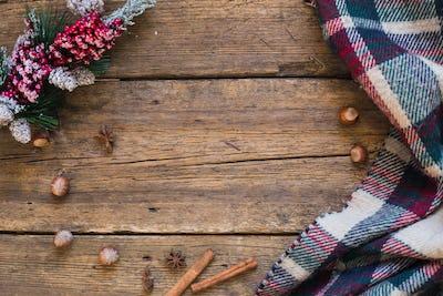 Warm blanket winter atmosphere