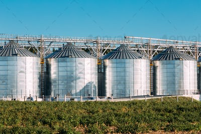 Modern Granary, Grain-drying Complex, Commercial Grain Or Seed S