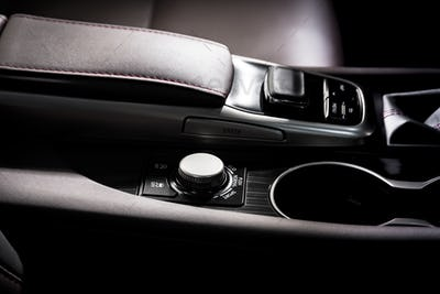 Media and navigation control buttons of a Modern car