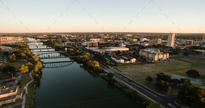 Downtown Waco Texas River Waterfront City Architecture