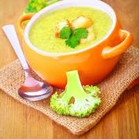 Tasty broccoli cream soup
