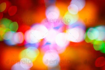 Festive colorful bokeh background
