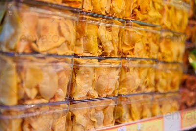 Fried Snacks Displayed At Shop