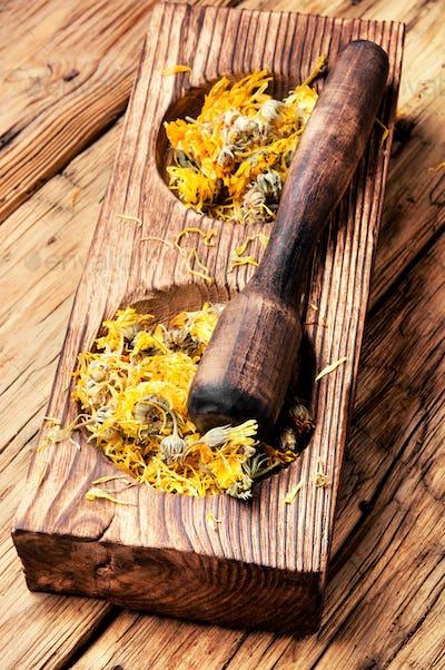 desiccated medicinal herbs