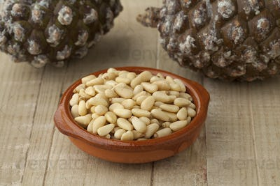 Bowl with pine nuts