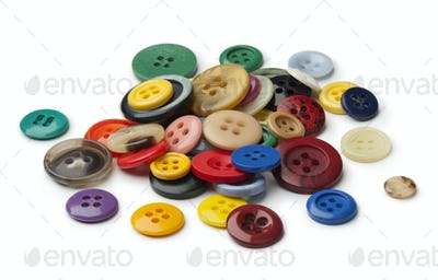 Heap of colorful sewing buttons
