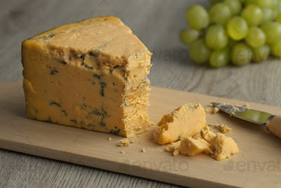 English Shropshire Blue cheese