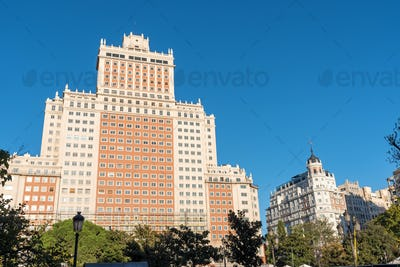The Edificio Espana in Madrid, Spain