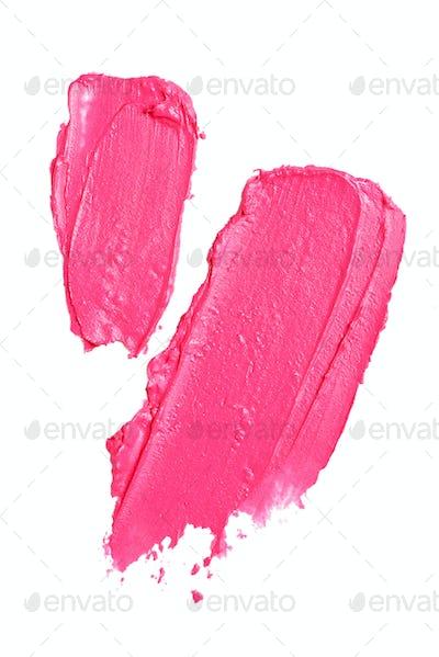 Smear paint of lipstick