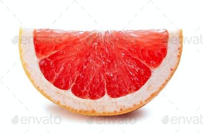 grapefruit slice isolated on white
