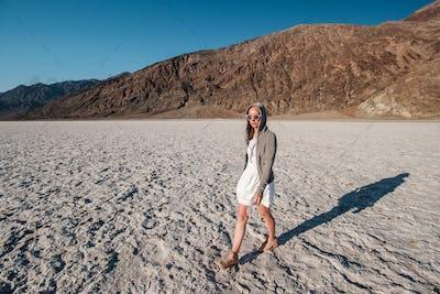 Tourist in Death Valley National Park