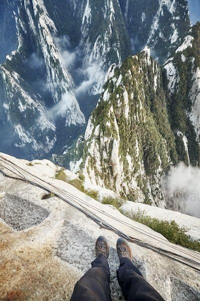 Plank Walk at Huashan Mountain, worlds most dangerous trail.