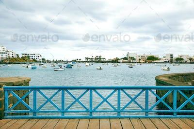 "Fishing boats in the laguna ""Charco de San Gines"" at Arrecife"